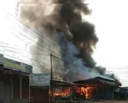 Bengkel Las di BS di Bengkalis Ludes Terbakar