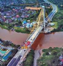 Penampakan Fisik Jembatan Siak IV Di Pekanbaru
