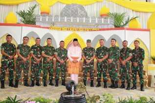Rombongan Arhanudse 13 Sambangi Rumdis Walikota
