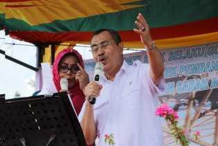 Syamsuar Mulai Pamit ke Masyarakat Kecamatan Sabak Auh, Siak