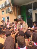 Haris Pimpin Do'a Korban Gempa Sulawesi Disela Latihan Gabungan Pramuka Siaga