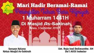 Semarak Tahun Baru Islam 1441 H, Masjid As Sakinah Undang Ustadz AKSI Indosiar