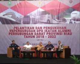 Wako Pekanbaru Hadiri Pelantikan DPD Ika Alumni Hubdar Riau