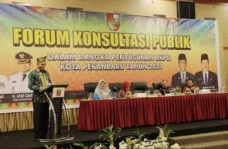 Wawako Buka Secara Resmi Forum Konsultasi Publik RKPD Pekanbaru 2021