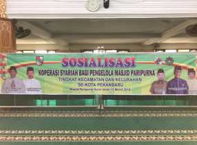 Diskop Pekanbaru Sosialisasi Koperasi Syariah di Kecamatan