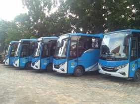 Pemko Terima Hibah 5 Unit Bus dari Kemenhub RI