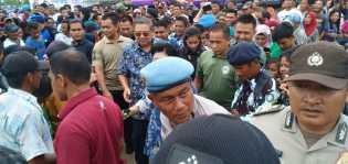 Kunjungi Pasar Flamboyan, SBY Disambut Ribuan Warga Kampar