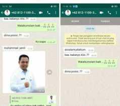 Akun WhatsApp Pj Sekda Pekanbaru Dipalsukan Oknum