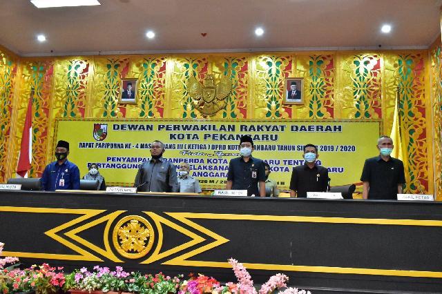 Rapat Paripurna Keempat Penyampaian Ranperda LPP APBD 2019